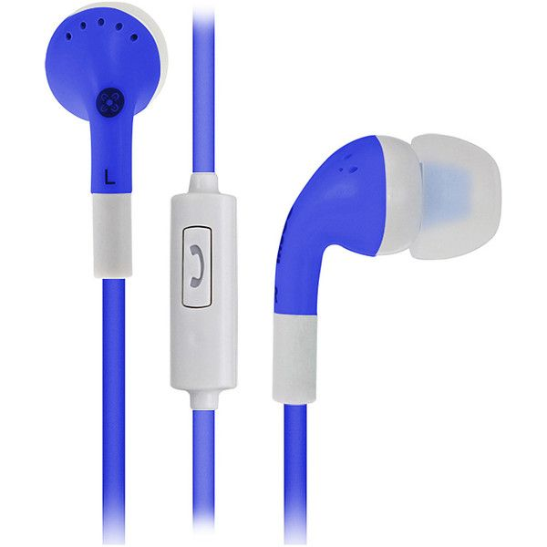 Moki Noise Isolation Earbuds ($12) ❤ liked on Polyvore featuring accessories, tech accessories, blue, blue earbuds and earphones earbuds