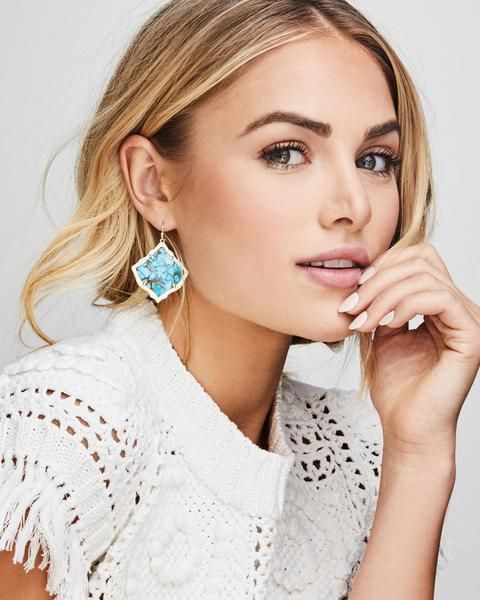 6e55958e695e8e With a gentle sloping silhouette yet bold presence, the Kendra Scott Kirsten  Silver Earrings are now available in the Kendra Scott logo filigree and  will ...