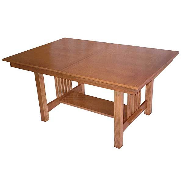 Mission style dining room table plans free woodworking for Mission style dining table