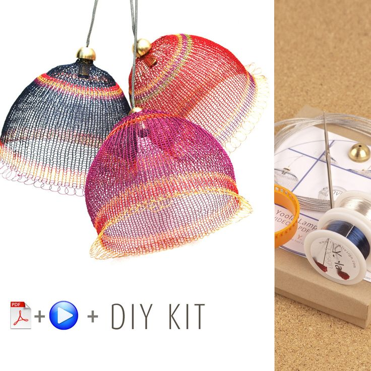 A unique jewelry making kit in Yoola's wire crochet invisible spool knitting technique. with the kit you will learn how to wire crochet a fascinating pendant light to decorate your home or give as a u