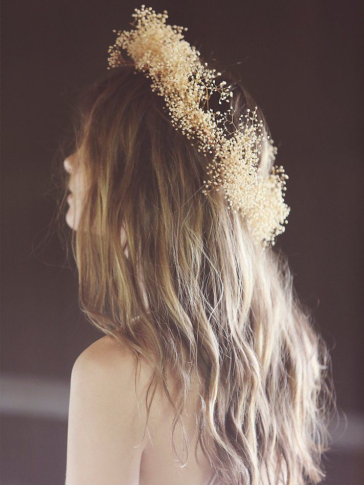 Flower Gypsies Babys Breath Flower Crown at Free People Clothing Boutique
