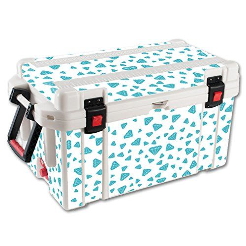 MightySkins Protective Vinyl Skin Decal for Pelican 65 qt Cooler wrap cover sticker skins Diamonds ** Click image to review more details.
