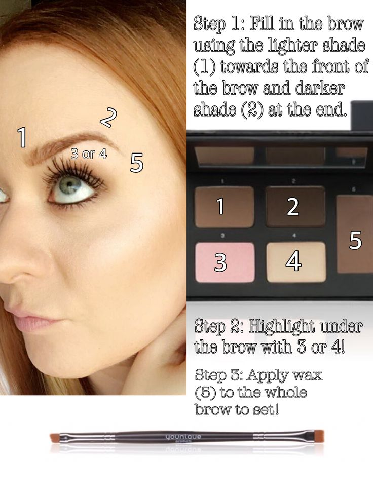 """Wonderful """"how to""""! Love this. Gorgeous brows and face. Younique Brow Palette and Brow Artist Brush!"""