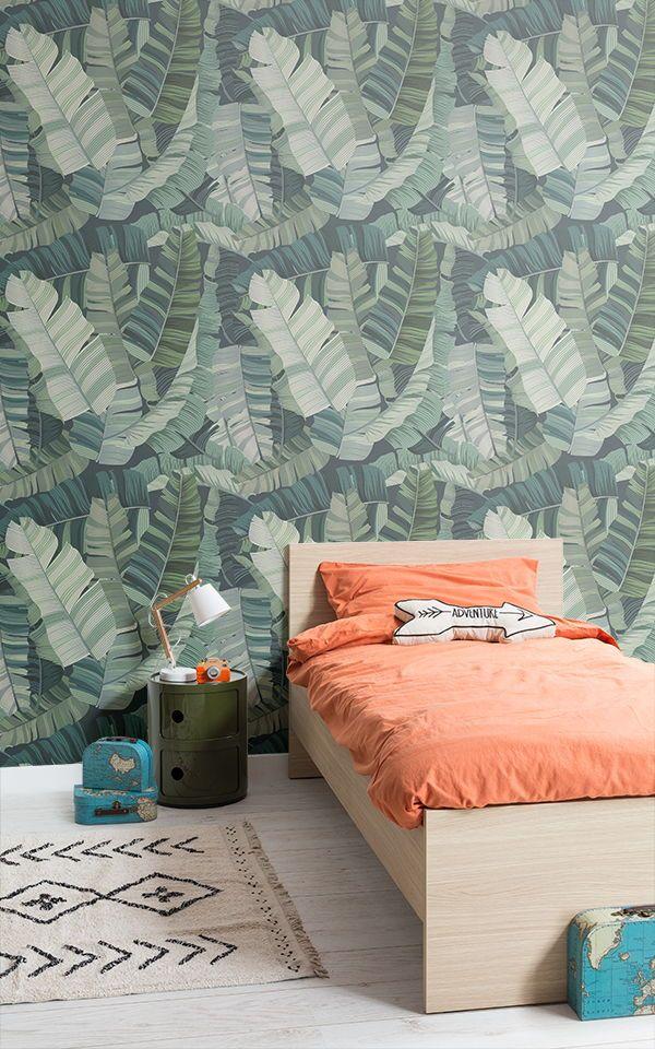 3D Tropical Leaf Wallpaper Cool Camo