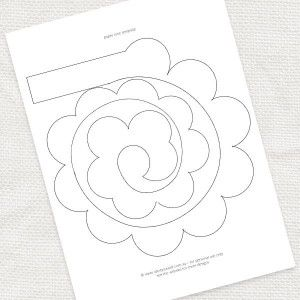 paper rose template - FREE DOWNLOAD