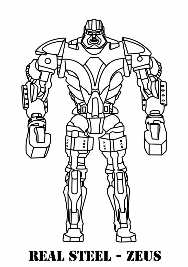 Real Steel Robots Coloring Pages For Kids