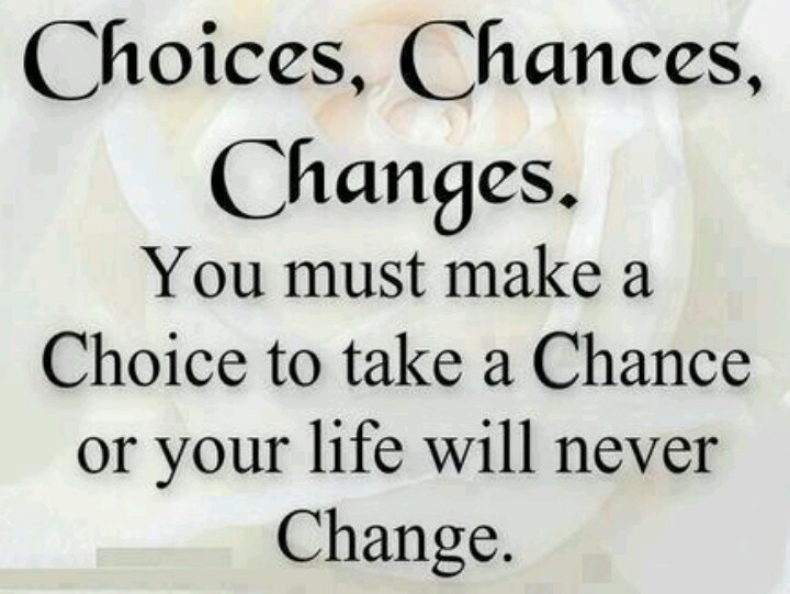 Choices & Change | Motivation/Quotes | Pinterest