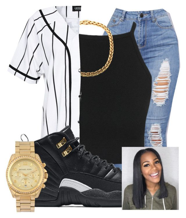 """Untitled #219"" by brooklynnmckenna ❤ liked on Polyvore featuring A Question Of, NIKE and Michael Kors"