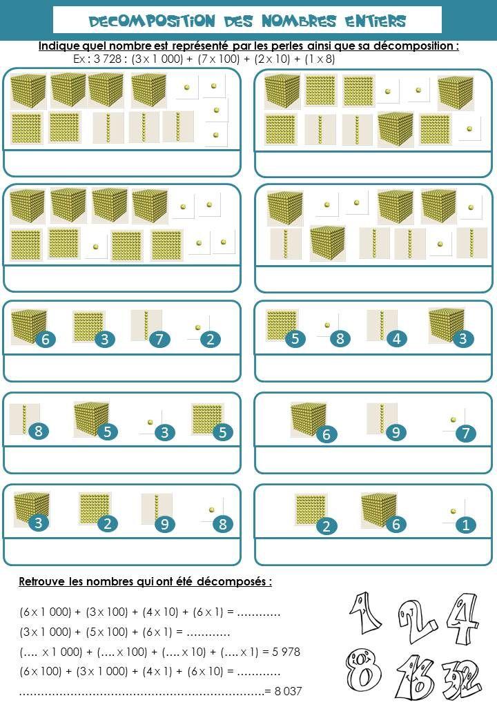 Decomposition Des Nombres Ce2 Decomposition Des Nombres Ce2 Mathematiques Ce2