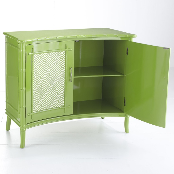 W7616 British Colonial Cabinet – Green Console Tables & Buffets