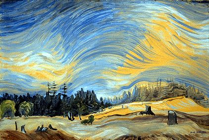 Above the Gravel Pit, Metchosin, 1934, Emily Carr
