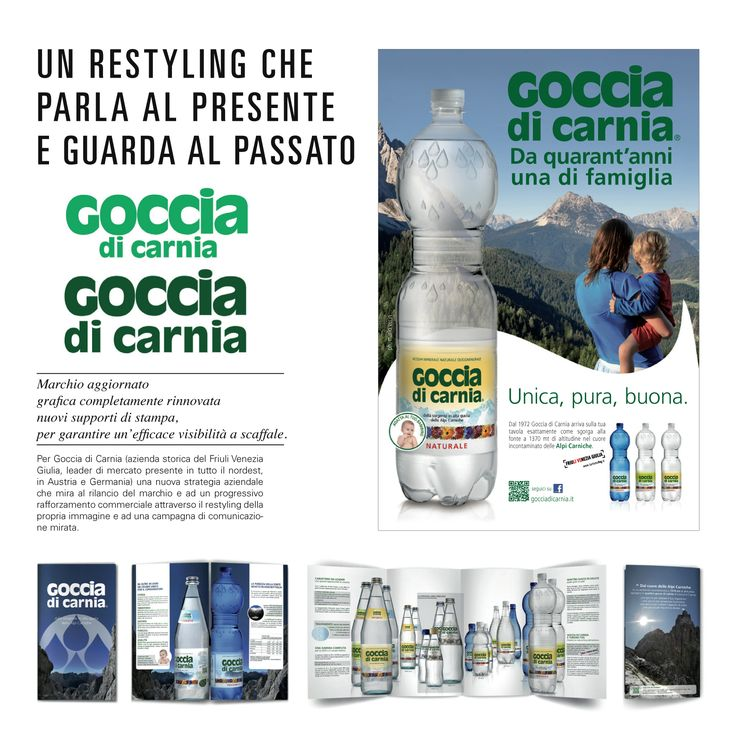 BRAND IDENTITY-Goccia di Carnia ©VISUALDISPLAY Visual Marketing Advisor