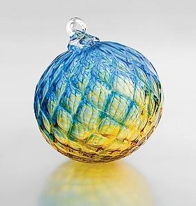 """Sunrise"" Art Glass Ornament   by Matthew Buechner"