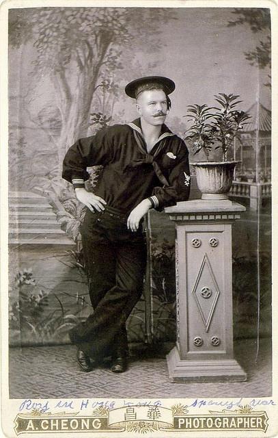 """""""Roy in Hong Kong"""" Vintage Sailor Photo"""