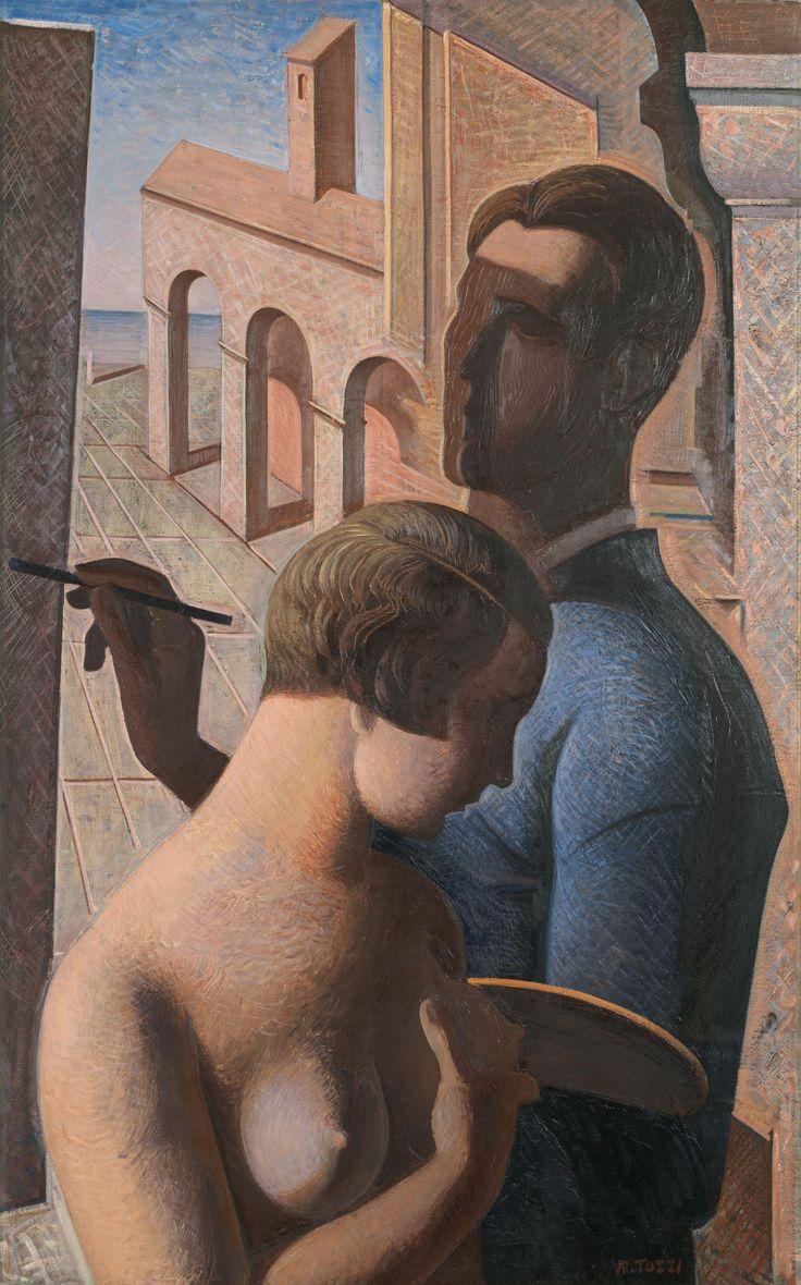 terminusantequem:  Mario Tozzi (Italian, 1895-1979) -Figure ed Architetture (1929)
