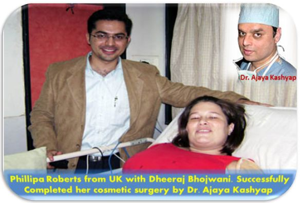 Dr. Ajaya Kashyap Performs Cosmetic Surgery At Goa In India On UK Patient