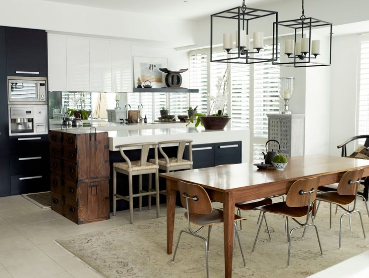 Dining and kitchen furnishings. Brooke Aitken Design.