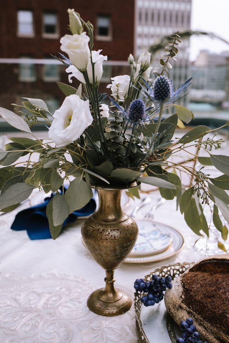 blue gold literary inspired wedding styled shoot wedding decor rh pinterest com