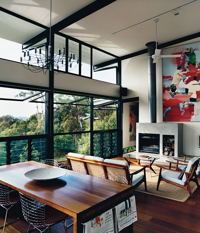 The open plan living room was inspired by