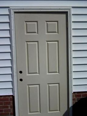 Aluminum Casing And Paint Exterior Utility Doors