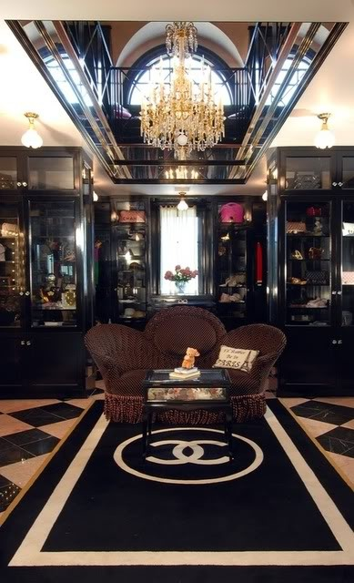 Two-story Chanel inspired closet. Every girl's dream!  At least mine.....