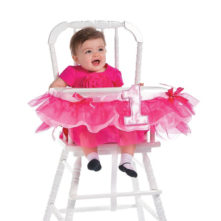 Pink+Ruffle+High+Chair+Décor+-+OrientalTrading.com