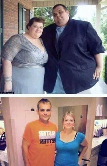 A weight loss transformation that will change this couple lives forever!! check us out at muscletransform.com for more motivation. #beforeandafter #fatloss #workout