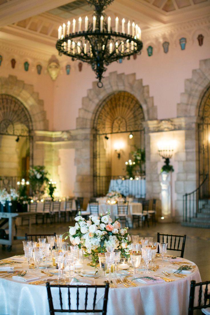 long table setup wedding reception%0A Black Tie Palm Beach Wedding