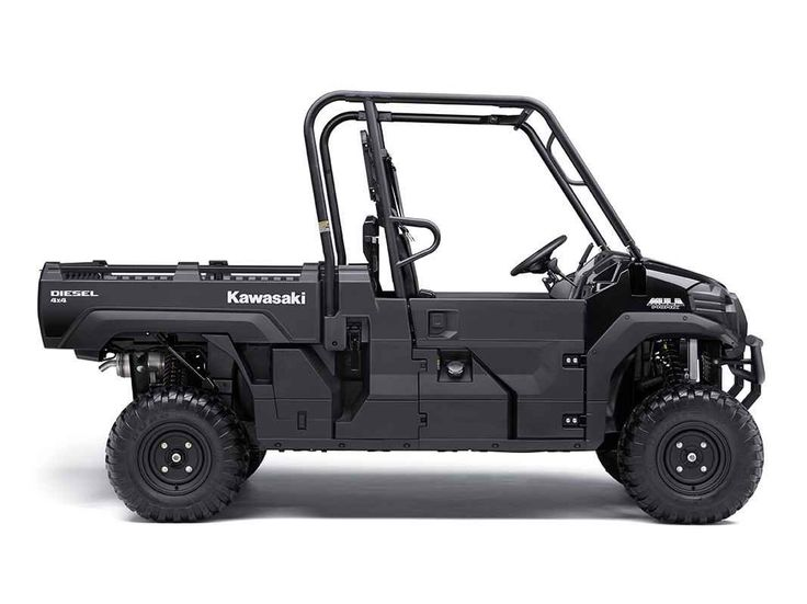 New 2017 Kawasaki Mule PRO-DX Diesel ATVs For Sale in Florida. Our powerful, most capable, full-size, three-passenger diesel Mule Side x Side ever. The 2017 Mule PRO-DX features the largest steel cargo bed in its class, big enough to close the tailgate on a full-size wooden pallet (40 x 48 inches) with up to a 1,000-pound cargo bed capacity (600 lb. maximum cargo bed capacity for California models) for secure transport.
