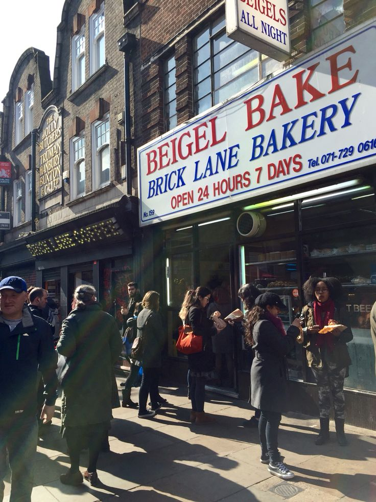 Shoreditch England: Beste Bagels Van Londen-Bricklane Street Shoreditch