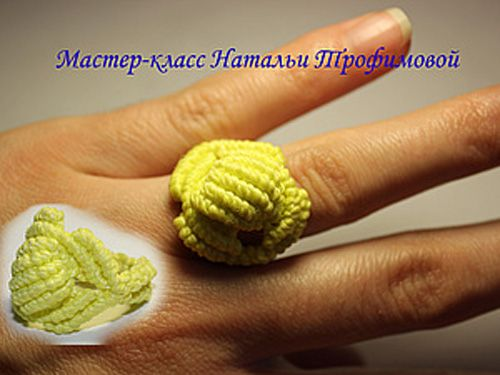 Macrame ring tutorial - кольцо макраме