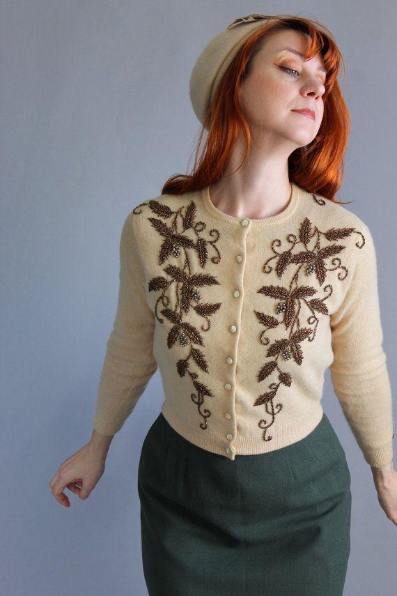 123 best Vintage beaded sweaters images on Pinterest | Vintage ...