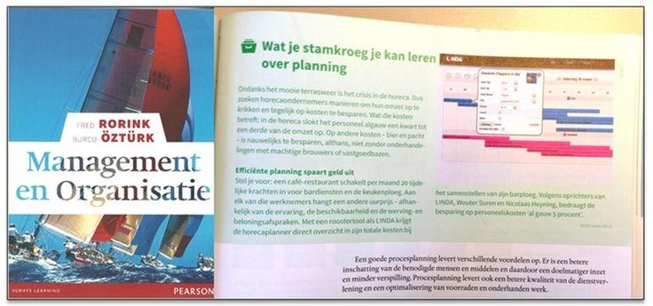 L1NDA gaat naar de schoolbank. In het boek Management & Organisatie vertellen we het belang van een efficiënte personeelsplanning in de horeca