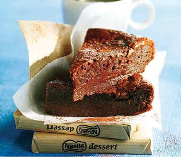 Bizcocho 'fondant' de chocolate