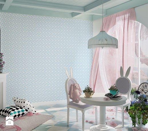 W błękicie i różu - zdjęcie od info@humptydumpty.com.pl wallpaper | ideas | kids room | inspiration | wonderland | scandinavian design | minimalism | magic | pink