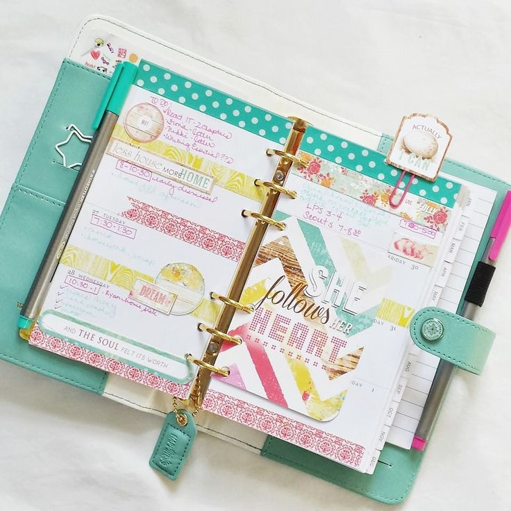 Light Teal Color Crush Planner::Anabelle O'Malley