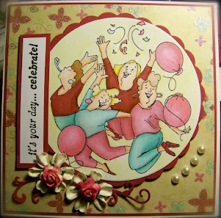 Party Girls Set by Soili-Maria Seppala! Love the colors!: Cards Girlfriends, Girlfriends Cardsart, Impressions Ideas, Cards Art Impressions, Art Impressions Stamps, Color, Girlfriends Cards Art, Impressions Girlfriends, Cards Inspiration