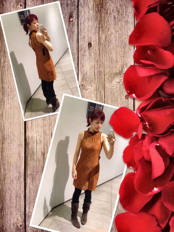 Orange brown crochet dress from Zara. Ready for the spring.