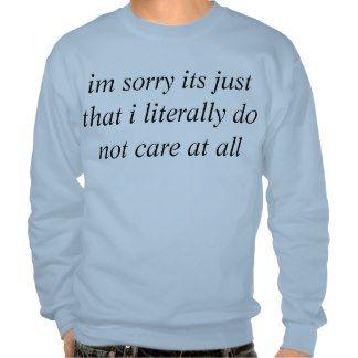 big dont care pullover sweatshirt
