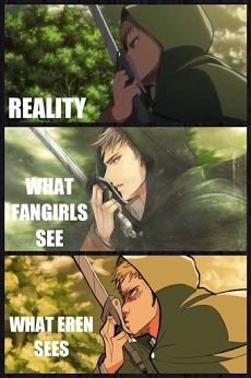 Attack on Titan ~~ We see what we want to sometimes. :: Jean