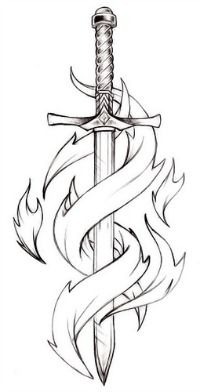 """Becky showed me, might be my next tat with """"semper armatus"""" written in flames"""