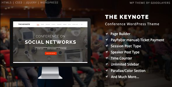 The Keynote - Conference / Event / Meeting WordPress Theme