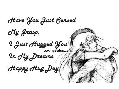 Hug Day Images & Quotes, Hug Day Messages, Hug Day Status more @ lookmystatus.com