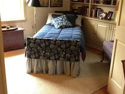 Want to make your hospital bed at home a little less dreary? Try this quick bedskirt and footboard design tip. http://www.caring.com/articles/hospital-bed-bedskirt
