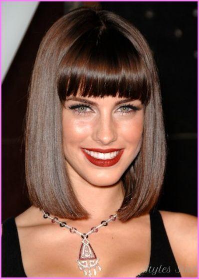 Cute bob haircuts with bangs -
