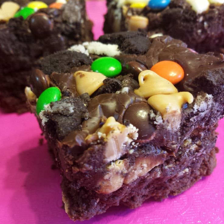 Everything but the kitchen sink brownies!!! OH MY GOODNESS!