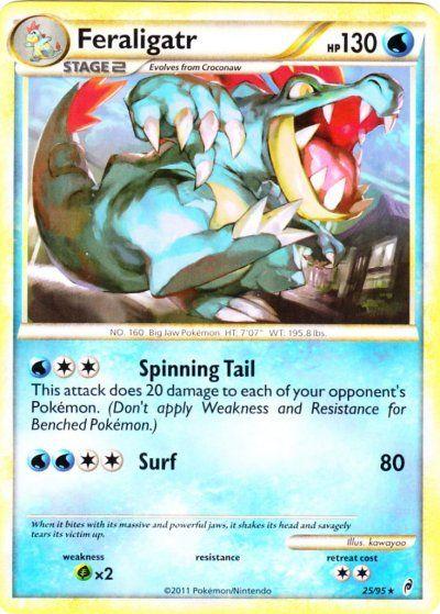 118 best images about pokemon on Pinterest | Cards ... Shiny Feraligatr Card