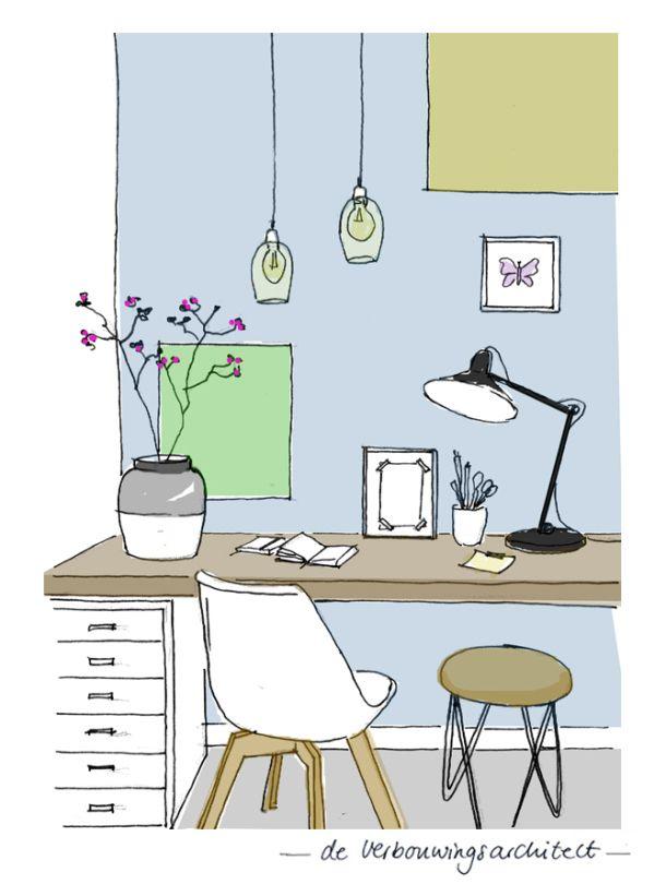 werkkamer - 7 tips voor een optimale (thuis)werkplek - deverbouwingsarchitect