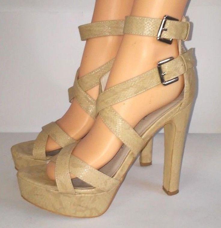 VANESSA  SECRET DESIGNER  Sandals SHOE ~ uk  SZ 39 / 8 US  #VANESSASECRET #Gladiator