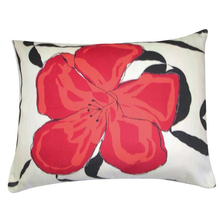 Red Hibiscus Pillow | www.hayneedle.com